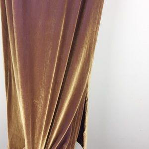 Vintage Skirts - Vntg gold ombré velvet stretch midi pencil skirt